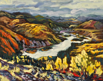 Up River from Dawson Dome SOLD - Halin de Repentigny - painting