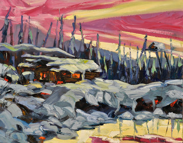 West Hart Glow SOLD - Halin de Repentigny - painting