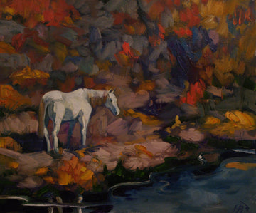 White Horse - SOLD - Halin de Repentigny - painting