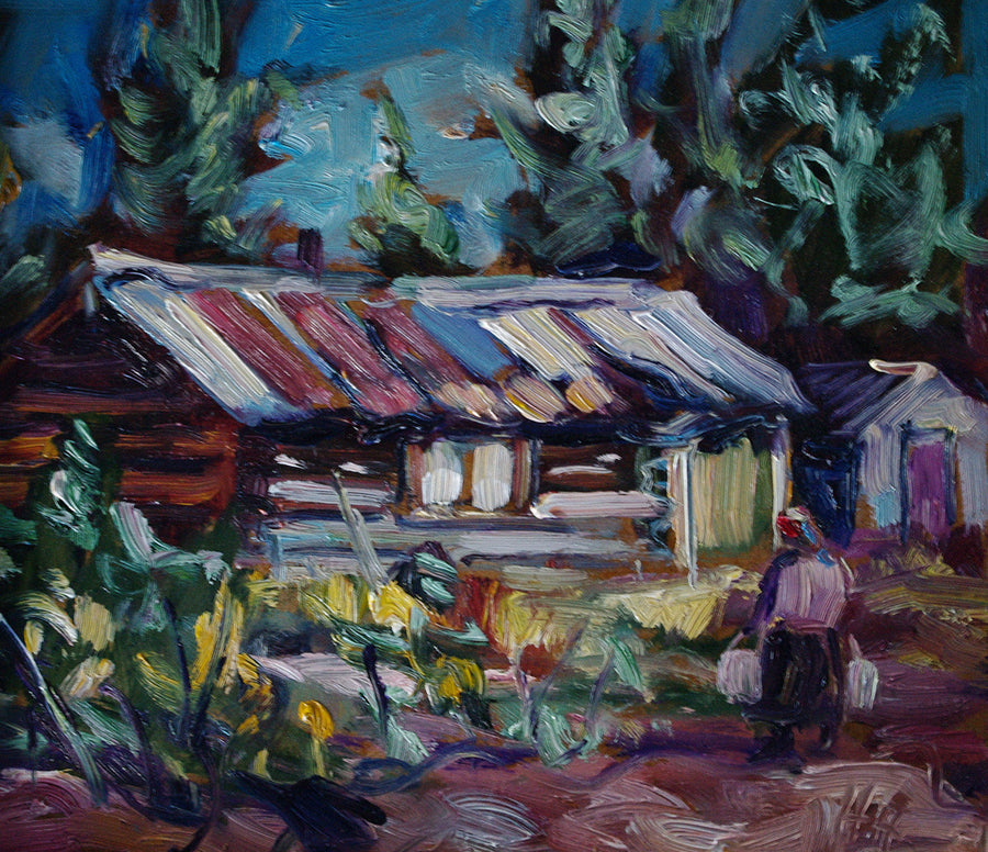 Wolf Creek Cabin SOLD - Halin de Repentigny - painting