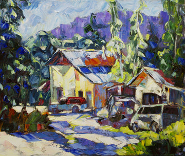 Yellow House North End Dawson SOLD - Halin de Repentigny - painting