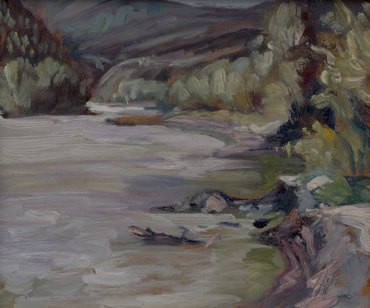 Yukon Slough - Halin de Repentigny - painting