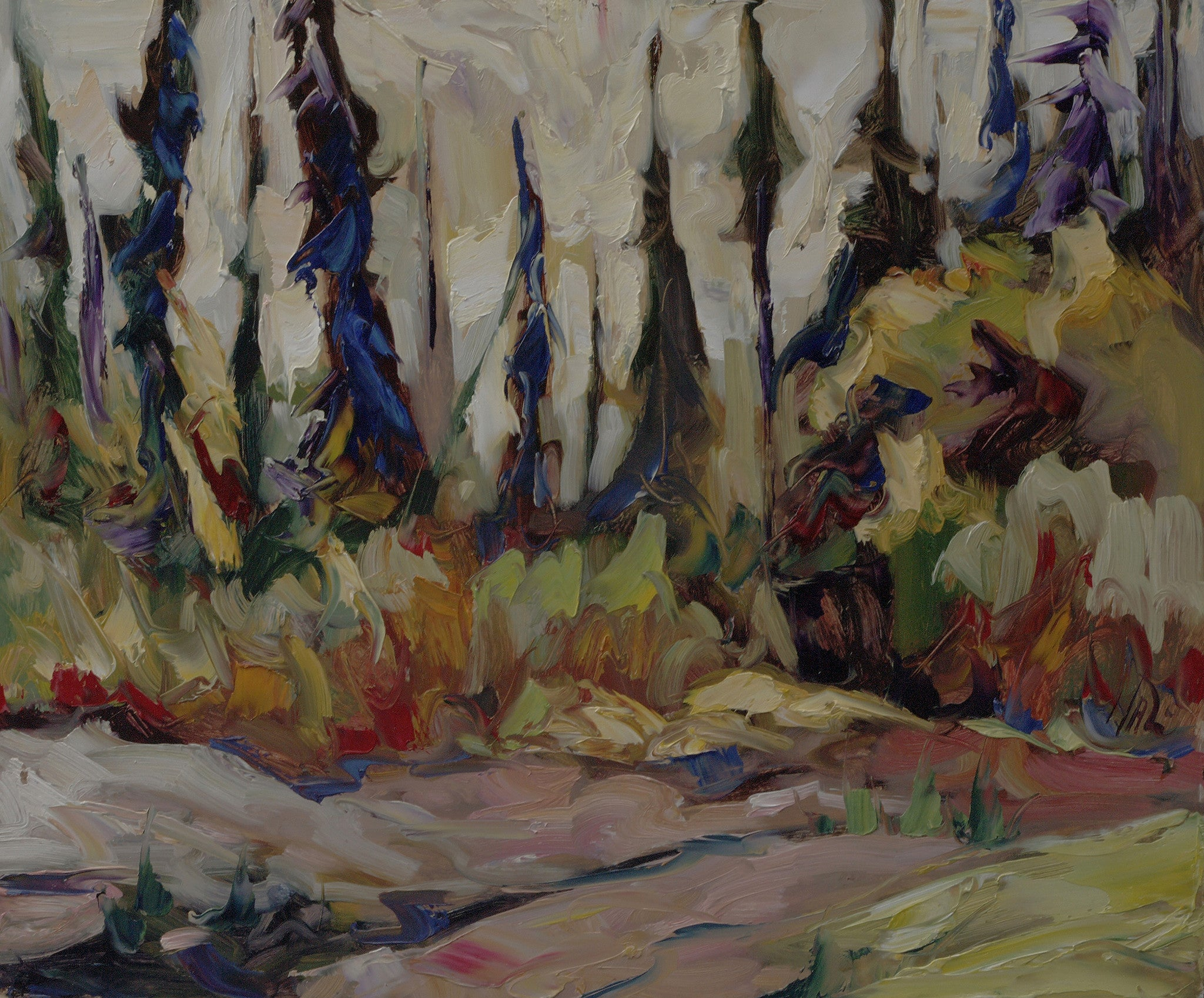 Yukon Black Spruce - SOLD - Halin de Repentigny - painting