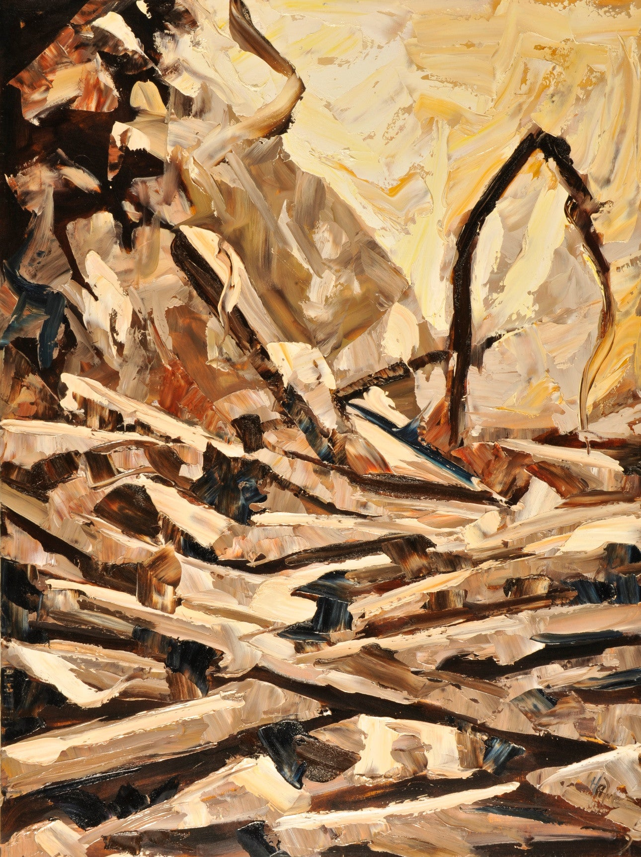 Wood Jam Scape - Halin de Repentigny - painting