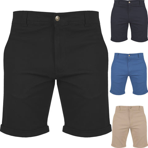 Mens Slim Fit Chino Shorts Stretch Cotton Casual Summer - Toplen