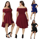 Ladies Party Evening Skater Short Dresses Plus Size - Toplen