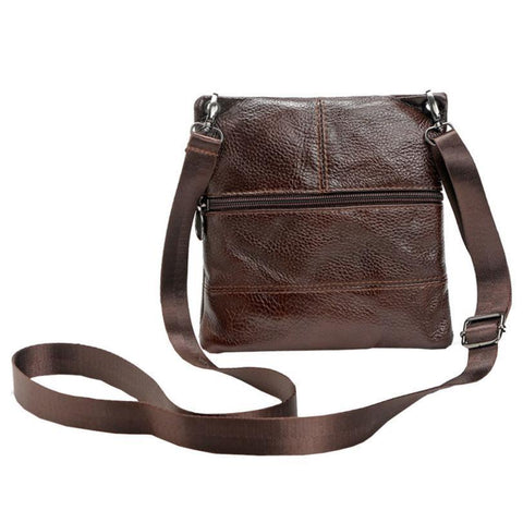 Men leather Business Crossboby Shoulder Bag - Toplen