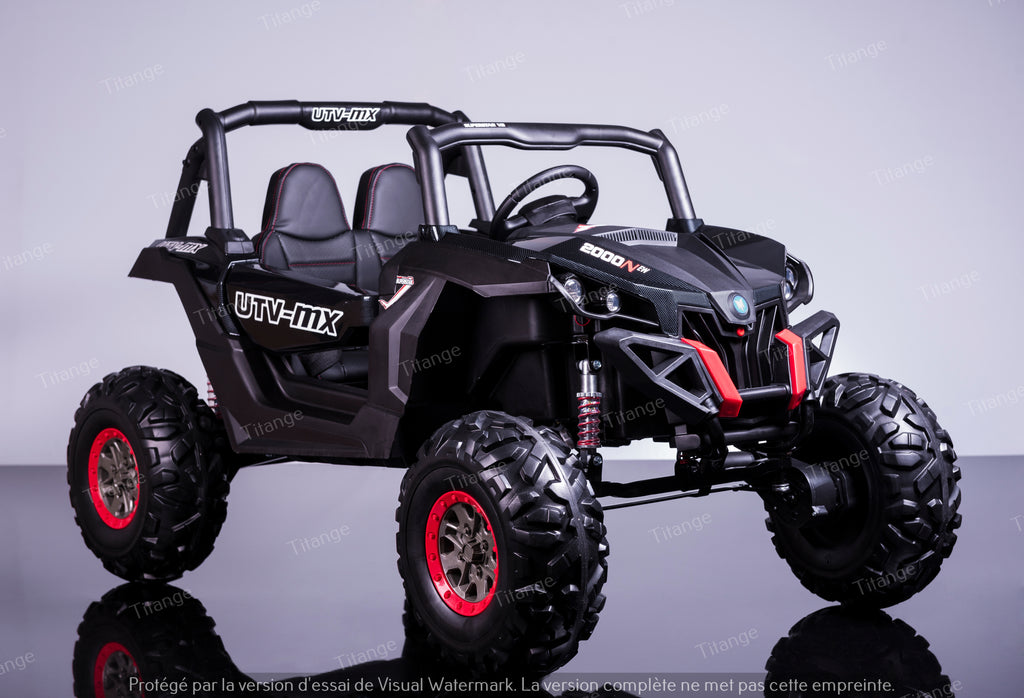Buggy UTV Carbonne - Deux places, 4 Moteurs avec Ecran tactile/ MP4 [Version Luxe]