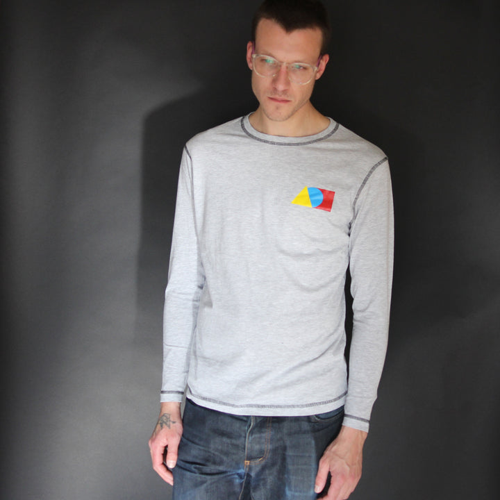 Long Sleeve Tee Shirt Heather Grey - Is this Menswear?  - 1