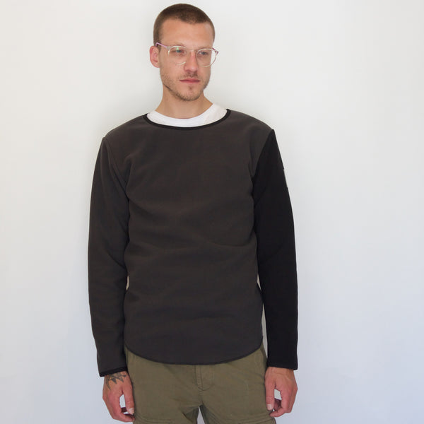 Fleece Pullover | Black / Dark Shadow - Is this Menswear?  - 1
