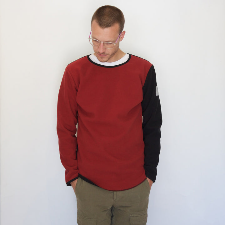 Fleece Pullover | Red / Black - Is this Menswear?  - 1
