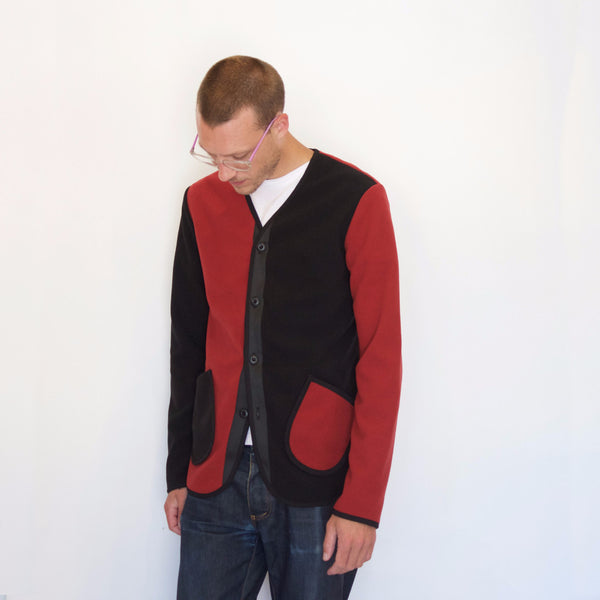 Fleece Jacket | Red / Black - Is this Menswear?  - 1