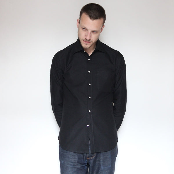 Japanese Cotton Oxford | Black - Is this Menswear?  - 1