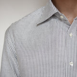 Japanese Cotton Oxford | Black Stripe - Is this Menswear?  - 3