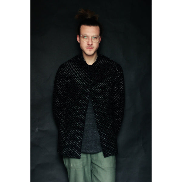 American Flannel Overshirt | Black Pin Dot - Is this Menswear?  - 1