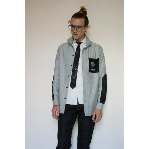 Technical Oxford | Grey - Is this Menswear?  - 1