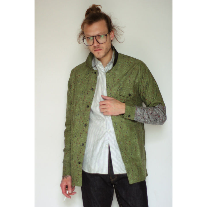 American Flannel Overshirt | Green Speckle - Is this Menswear?  - 1