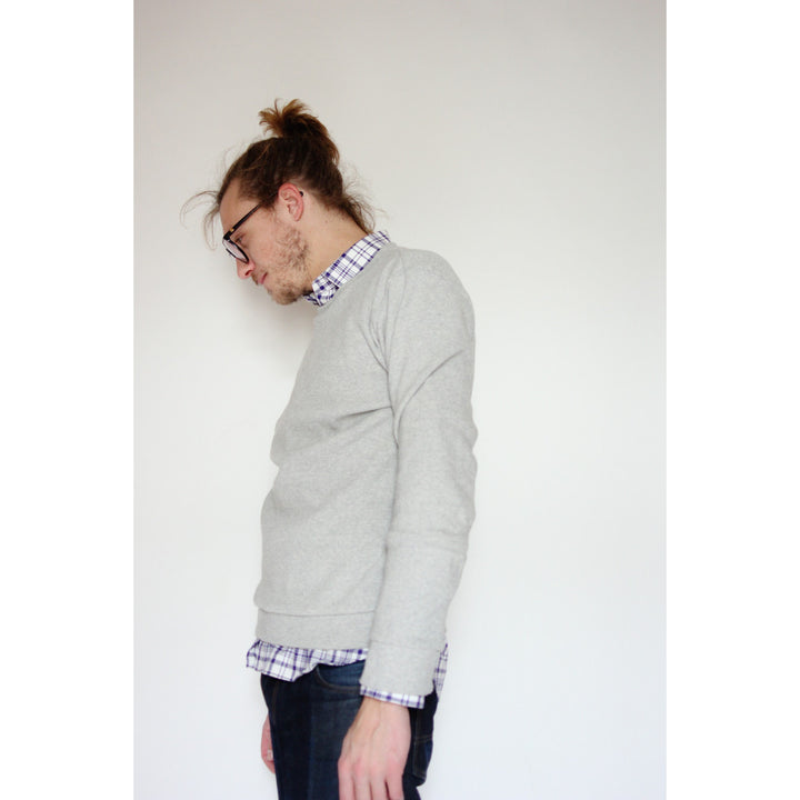 Multi Panel Sweatshirt | Grey - Is this Menswear?  - 1