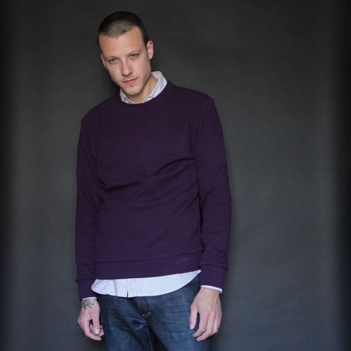 Sweatshirt | Purple - Is this Menswear?  - 1