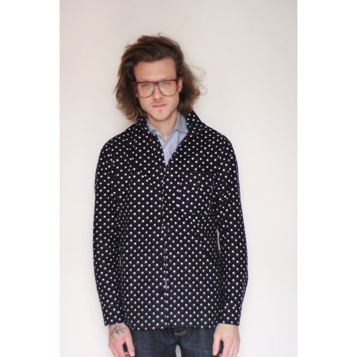 American Flannel Overshirt | Navy Polka Dot - Is this Menswear?  - 1