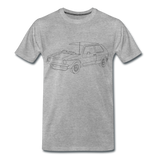 Männer T-Shirt LineArt VW Golf I GTI - heather grey