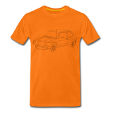 Männer T-Shirt LineArt VW Golf I GTI - orange