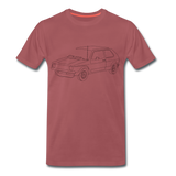 Männer T-Shirt LineArt VW Golf I GTI - washed burgundy