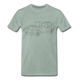 Männer T-Shirt LineArt VW Golf I GTI - steel green