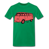 Männer T-Shirt Classics to Click VW Bulli Rot - Kelly Green