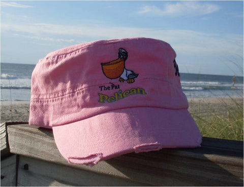 Distressed Army Hat Pink