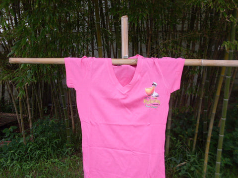 Womens PInk V-Neck  T-Shirt