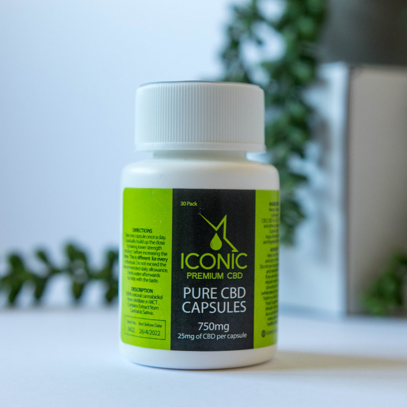 Iconic CBD Capsules 25mg – 30 Pack