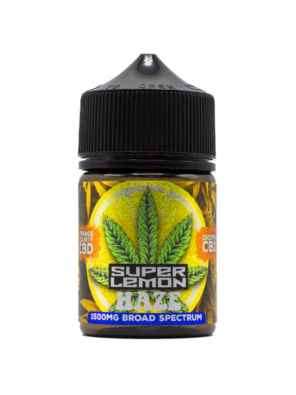 Orange County 'Cali Range' Vape Juice - Super Lemon Haze 50ml (Zero THC)