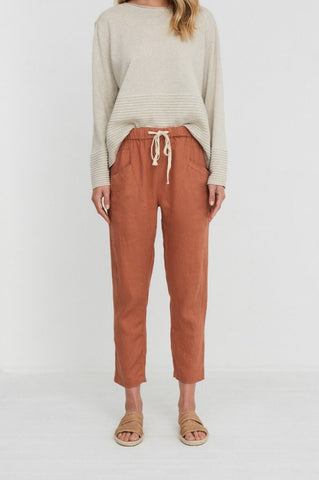 LUXE PANT - TERRACOTTA