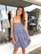 Load image into Gallery viewer, LOLA DRESS - NAVY GINGHAM