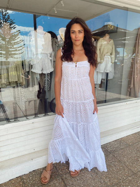 CLEO MAXI - BRODERIE ANGLAISE