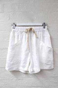 LUXE SHORTS - WHITE