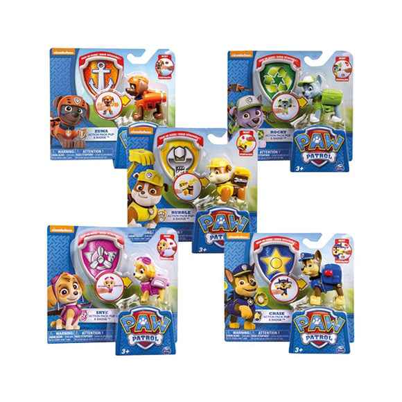 a photo of the product: Paw Patrol Pup + Badge Assorti