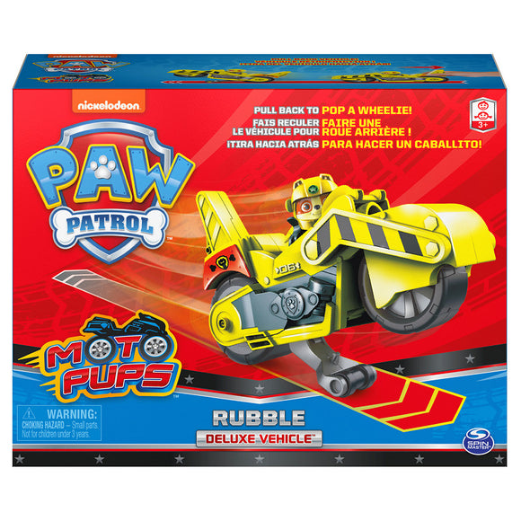 a photo of the product: Paw Patrol Moto Themed Vehicle Rubble
