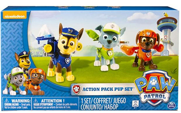 a photo of the product: Paw Patrol Action Pack 3-Pack
