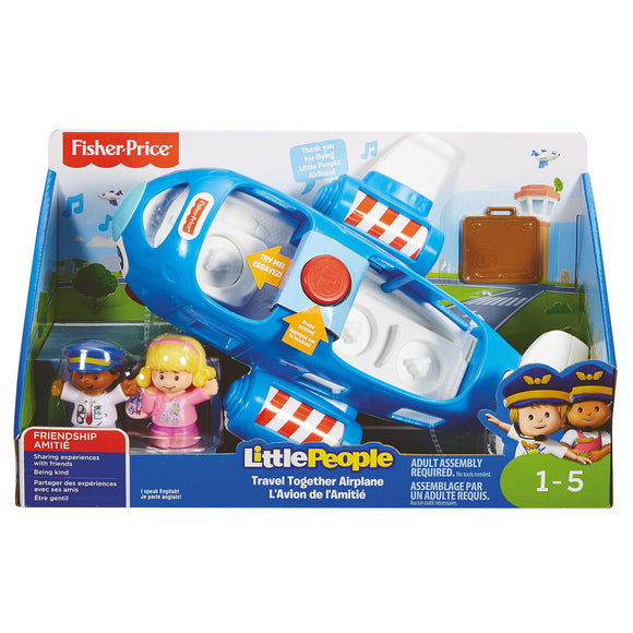 a photo of the product: Little People Samen Op Reis Vliegtuig