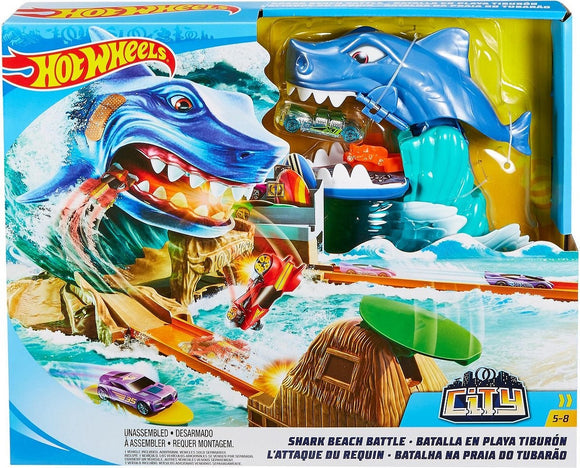 a photo of the product: Hot Wheels Shark Beach Battle