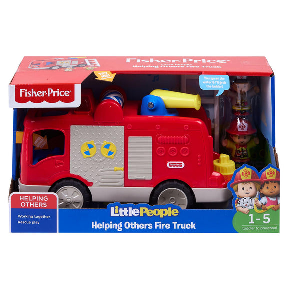 a photo of the product: Little People Grote Brandweerauto