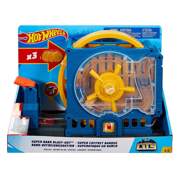 a photo of the product: Hot Wheels Medium Speelset Super Bank Blast-Out
