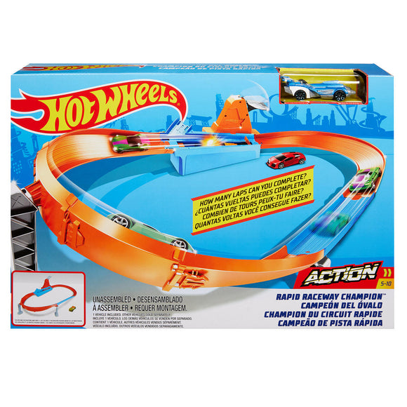 a photo of the product: Hot Wheels Action - Rapid Raceway Champion