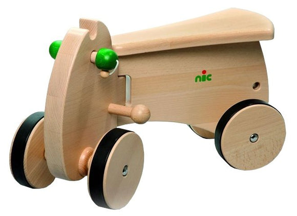 a photo of the product: Nic loopwagen CombiCar basis hout 26 cm bruin