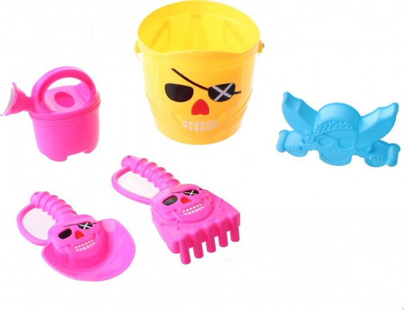 a photo of the product: Happy People strandspeelgoed set piraat 15 cm 5-delig geel
