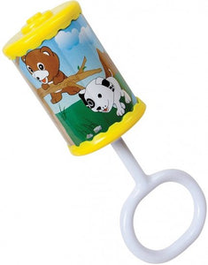 a photo of the product: Happy People rammelaar met handvat en dierenprint 16cm