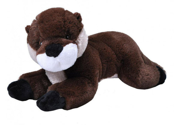 a photo of the product: Wild Republic knuffel otter junior 30 cm pluche bruin