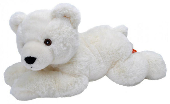 a photo of the product: Wild Republic knuffel ijsbeer Ecokins junior 30 cm pluche wit